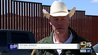 Zinke visits Arizona wildlife refuge along US-Mexico border