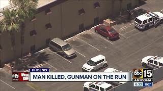 Suspect at large after deadly shooting in Phoenix - Video