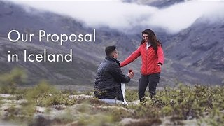 Drone Captures Beautiful Proposal in Iceland - Video