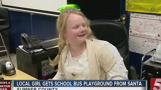 Local Girl Gets School Bus As Special Gift - Video