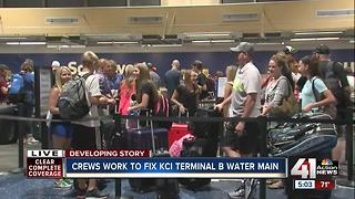 Water shut off at KCI Terminal B after line break - Video