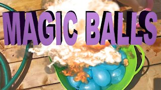 Be careful with magic balls, extremely explosive!
