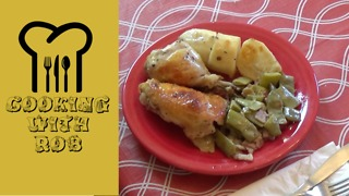 Lemon garlic roast chicken with potatoes - Video