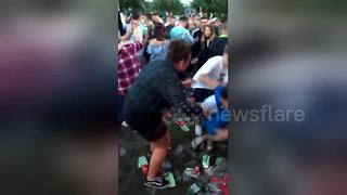 "Festival-goer gets kneed ""where it hurts"" - Video"