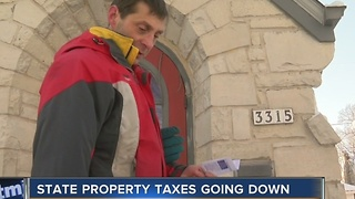 Governor Walker Boasts Lower Property Tax Bills - Video