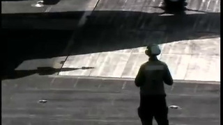 Fighter Planes Takeoff From Aircraft Carrier