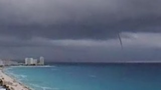 Waterspout Spotted Off Cancun Shores - Video