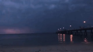 'Spider Lightning' Illuminates Seaside Adelaide With Spectacular Light Show - Video