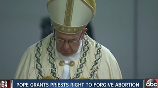 Pope grants all priests rights to forgive abortion - Video