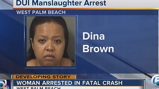 Suburban West Palm Beach woman charged in fatal DUI crash - Video