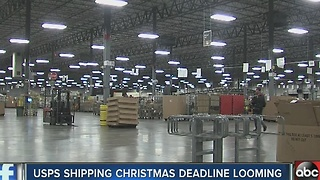 Shipping deadlines approach as Monday marks the busiest shipping day of the year - Video