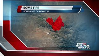 Bowie Fire 90 percent contained - Video