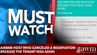 Airbnb host who canceled a reservation because the tenant was Asian - Video