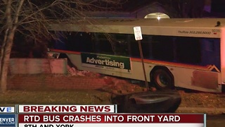 RTD bus involved in crash near 8th Avenue and York Street; no serious injuries reported - Video