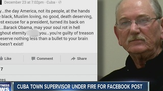 Cuba Town Supervisor under fire for Facebook post - Video