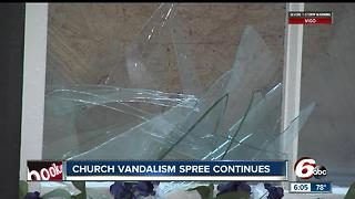 String of churches vandalized in southern Ind. counties - Video