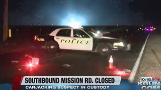 Carjacking closes part of Mission Road - Video
