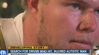 Search for driver who hit, injured autistic man - Video