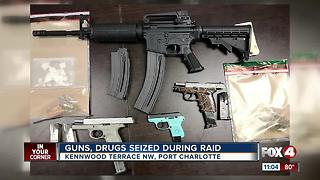 Guns, Drugs Seized During Raid - Video