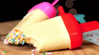 Cake Batter Popsicles - Video