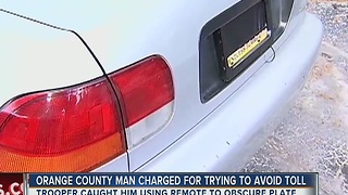 Orange County man charged for trying to avoid tolls - Video
