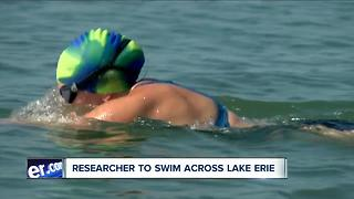 Researcher to swim across Lake Erie - Video