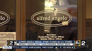 Alfred Angelo Bridal stores closing Thursday - Video