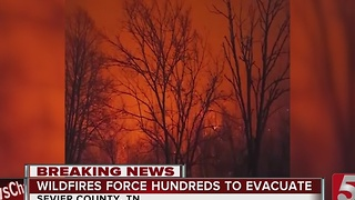 Tourists, Residents Seek Shelter From Wildfires - Video
