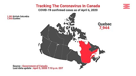COVID 19 Confirmed Cases In Canada As Of April 6th
