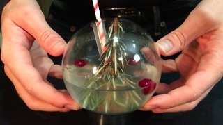 How to make a snow globe cocktail - Video