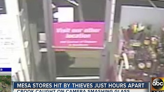 Mesa thief breaks into clothing store - Video