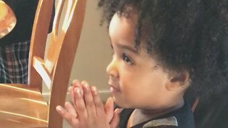 Watch Preacher-Style Performance from 2-Year-Old Asked to Bless Food - Video