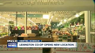 Customers line up for Lexington Co-op grand opening - Video