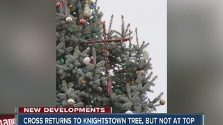 Cross returns to Knightstown Christmas Tree - just not on top - Video