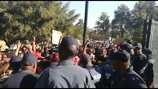#TotalShutdown protesters clash with police, demand Ramaphosa (BLt)