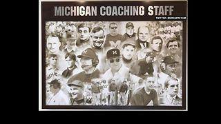Michigan honors head coaches - including Rich Rodriguez and Brady Hoke - Video