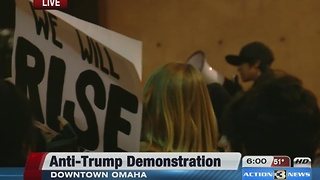 Anti-Trump protests resumes in Omaha - Video