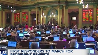 First responders to march for retirement benefits - Video