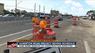 Ulmerton road project behind schedule - Video