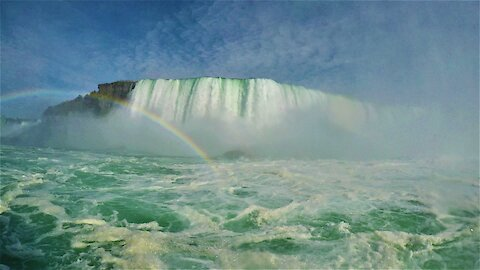 Up-close beneath Niagara Falls, the world's most powerful falls