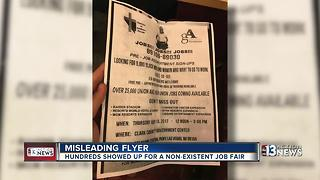 People upset about misleading job flyer - Video