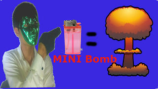 How to make a mini bomb from the lighter  - Video