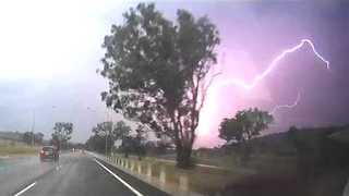 Lightning Lights Up Canberra Skies During Severe Thunderstorm - Video