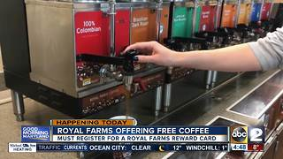 Free coffee at Royal Farms - Video