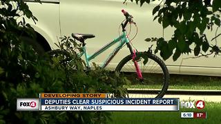 Deputies say suspicious incident in North Naples is a misunderstanding - Video