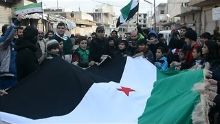 Protesters Gather in Western Aleppo Countryside Calling for Rebel Unification - Video