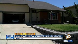 Man wakes up to stranger in his bedroom - Video