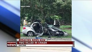 2 dead after car crashes into tree in Racine - Video