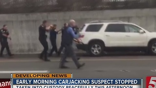 Carjacking Suspect Arrested on I-65S