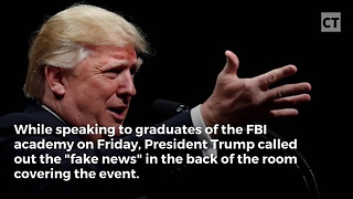 FBI Grads Go Nuts When Trump Attacks Fake News - Video